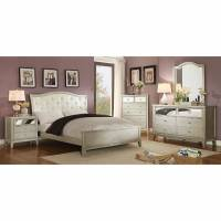 ADELINE 4 PC SETS (QUEEN BED + DRESSER + MIRROR + NIGHT STAND )