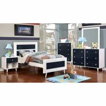 ALIVIA TWIN  BED +  1NS +DRESSER + MIRROR BLUE CM7850BL-GROUP4