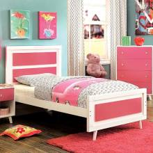 ALIVIA TWIN BED PINK & WHITE CM7850PK-T