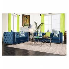 2 Pc Set SALVATORE SOFA + LOVE SEAT Lapis Blue SM2280-GROUP