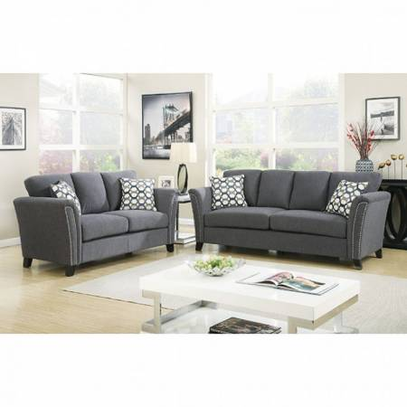 3 Pc Set CAMPBELL SOFA + LOVE SEAT + CHAIR CM6095GY-GROUP