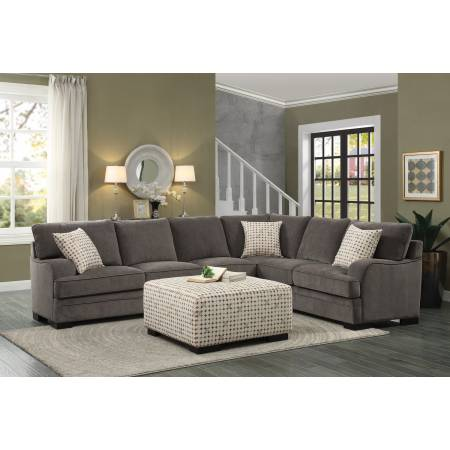 Alamosa Sectional Sofa Set - Chenille - Brown