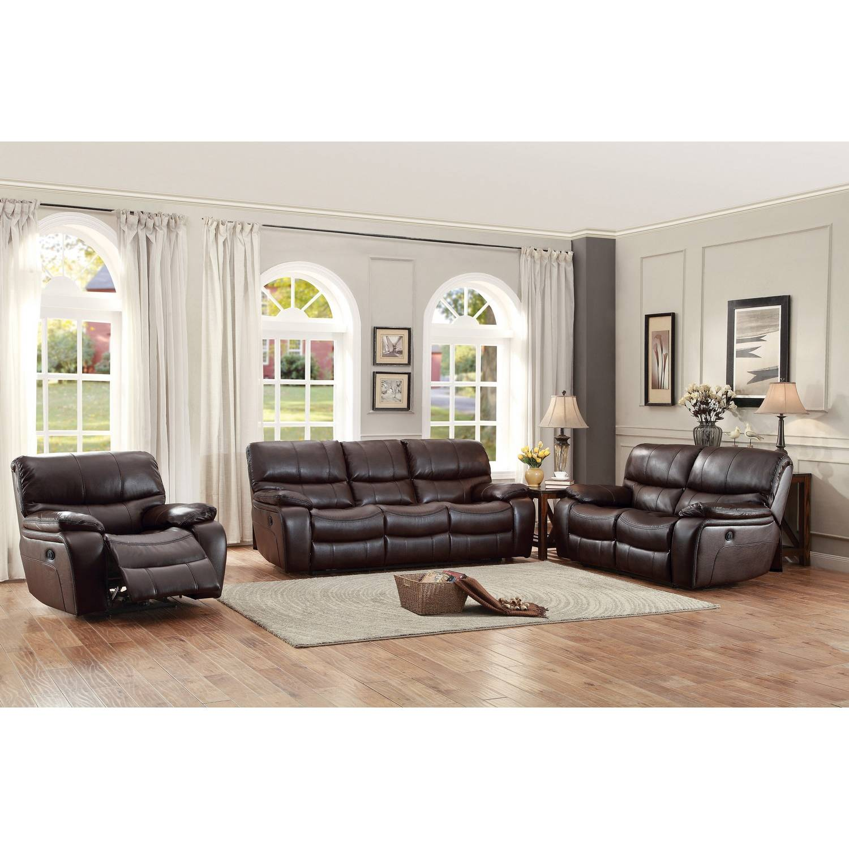 Sensational Pecos Power Reclining Sofa Set Leather Gel Match Dark Brown Inzonedesignstudio Interior Chair Design Inzonedesignstudiocom