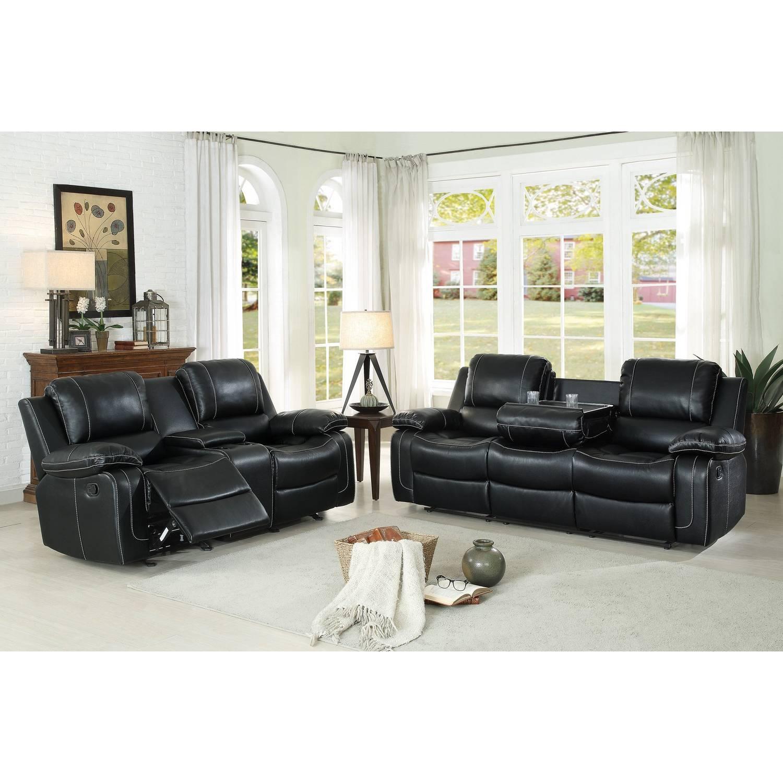 Oriole Reclining Sofa Set Faux