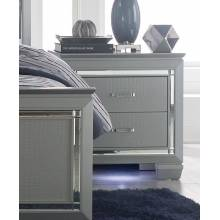 Allura Night Stand, LED Lighting - Silver