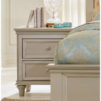 Celandine Upholstered Night Stand - Silver