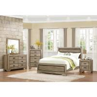 Beechnut Panel Bedroom Set 4 Pc - Light Elm