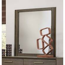 Vestavia Panel Mirror - Grey/Dark Brown