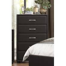 Lorenzi Upholstered Chest - Black Vinyl