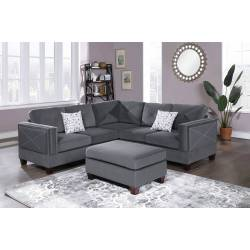 F8842 3-PC SECTIONAL W/2 ACCENT PILLOW (OTTOMAN INCLUDED)