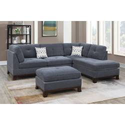 F6479 3-PC SECTIONAL W/2 ACCENT PILLOW (OTTOMAN INCLUDED)