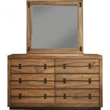 5200 Alpine Furniture 5200-03 Live Edge 6 Drawer Dresser Tobacco Finish Mahogany