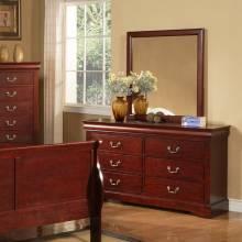 2700 Alpine Furniture 2703 Louis Philippe II Mirror Cherry Finish
