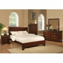 2200 Alpine Furniture 2200Q West Haven 4PC SETS Queen Low Footboard Sleigh Bed Cappuccino Finish
