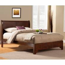 2200 Alpine Furniture 2200CK West Haven California King Low Footboard Sleigh Bed Cappuccino Finish