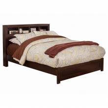 NSK Alpine Furniture NSK-12T Solana Twin Platform Bed Bookcase Headboard Cappuccino Finish