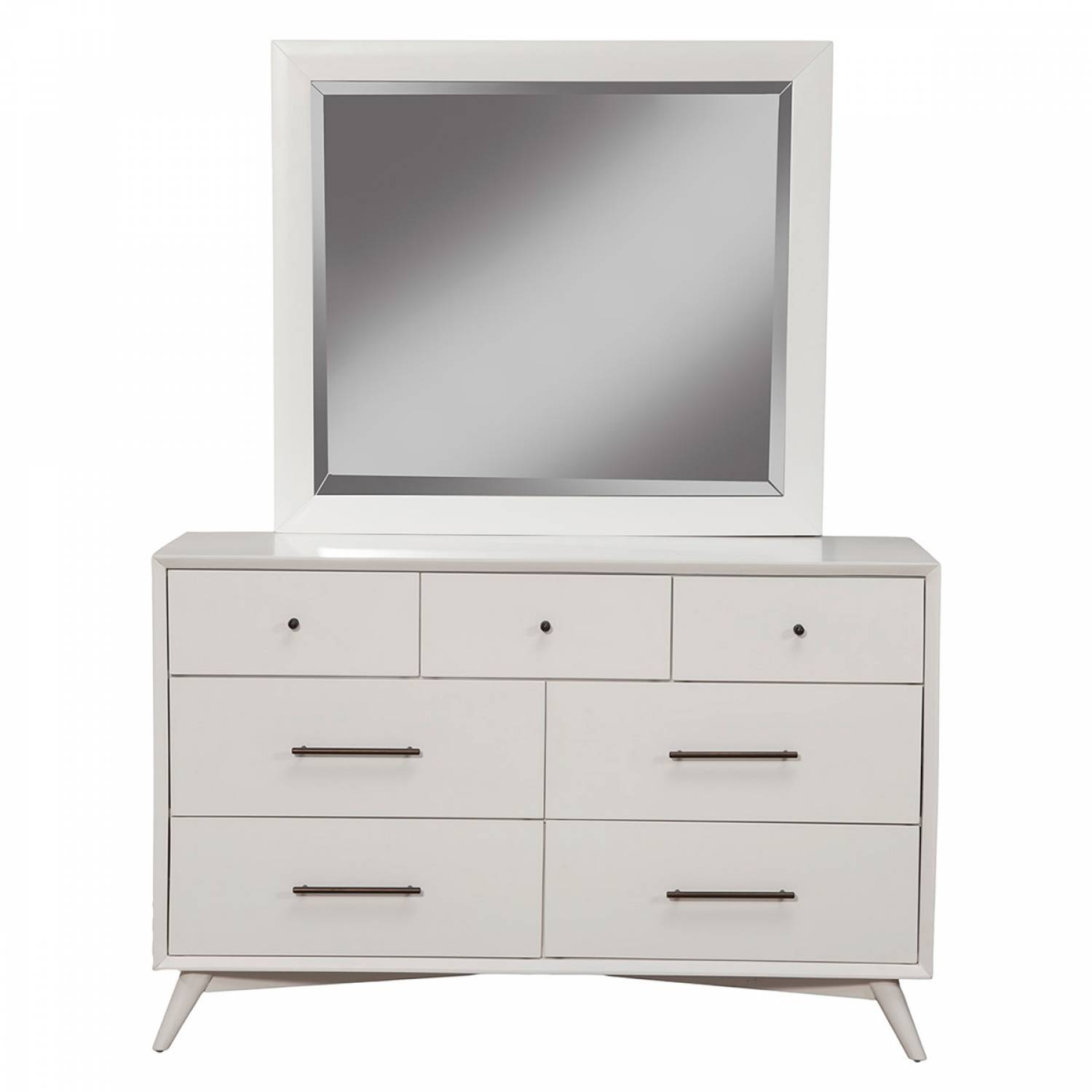 966 w alpine furniture 966 w 06 flynn mid century modern mirror white finish