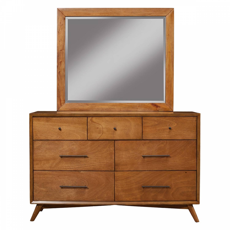 966 Alpine Furniture 966 03 Flynn Mid Century Modern 7 Drawer