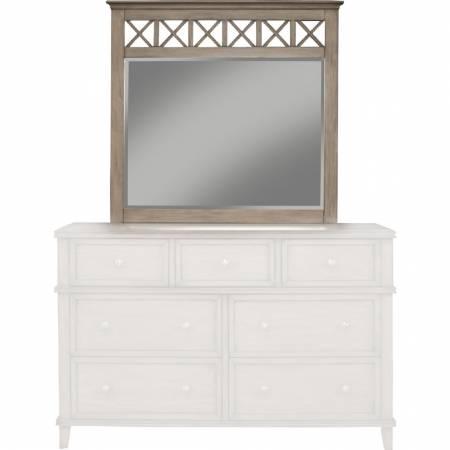 1055 Alpine Furniture 1055-06 Potter Mirror French Truffle Finish