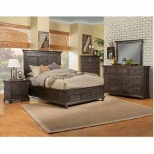 1468 Newberry 4PC SETS Queen Bed in Salvaged Grey Finish