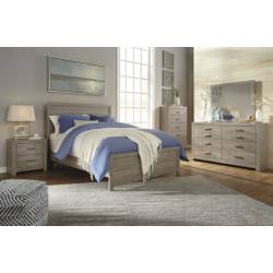 B070 4PC SETS Queen Panel Bed
