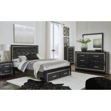 B1420 4PC SETS Queen Panel Storage Bed