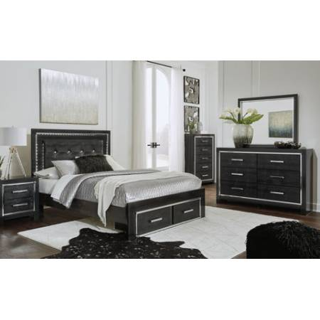 B1420 5PC SETS Queen Panel Storage Bed