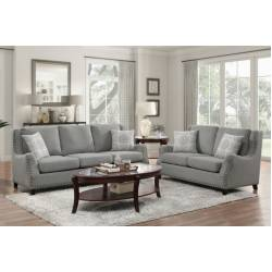 9339GY*2 2PC SETS Sofa + Love Seat