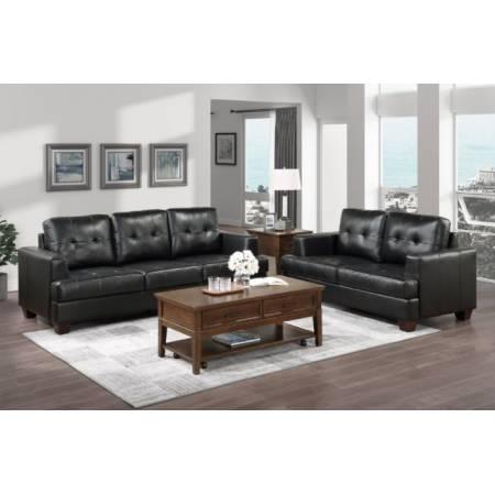9309BK*2 2PC SETS Sofa + Love Seat