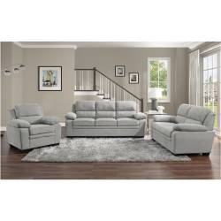 9333GY*3 3PC SETS Sofa + Love Seat + Chair