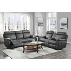 9301GRY*2 2PC SETS Sofa + Love Seat