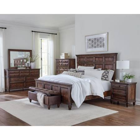 223031KW-S5 5PC SETS C KING BED + NIGHTSTAND + DRESSER + MIRROR + CHEST