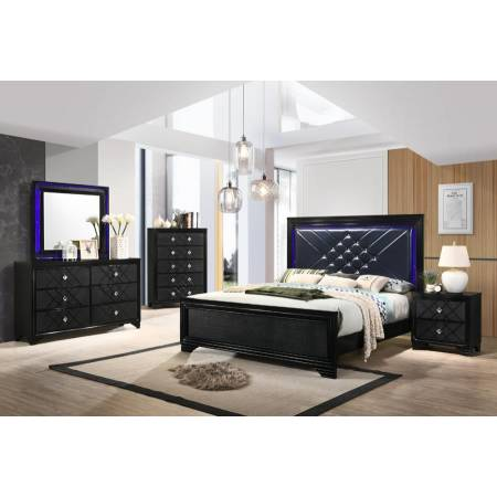 223571KW-S4 4PC SETS C.KING BED + NIGHTSTAND + DRESSER + MIRROR