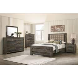 223481Q-S4 4PC SETS QUEEN BED + NIGHTSTAND + DRESSER + MIRROR