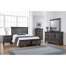 205730Q-S4 4PC SETS QUEEN BED +NIGHTSTAND + DRESSER + MIRROR