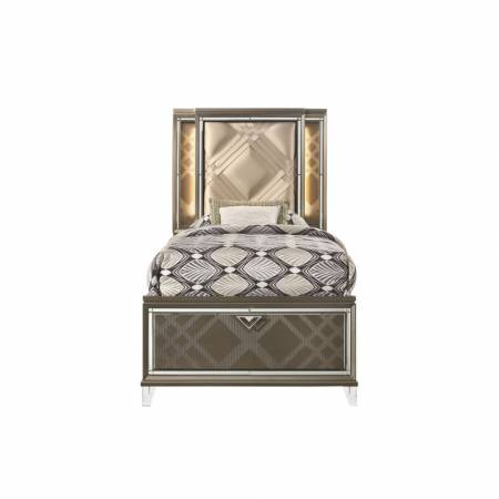 25340T Skylar Twin Bed (Storage & LED)
