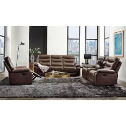 55420-3PC 3PC SETS Aashi Sofa + Loveseat w/Console + Recliner