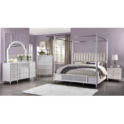 22120Q-4PC 4PC SETS Celestia Queen Bed (Canopy)