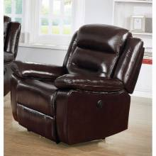 Flavie Recliner (Power Motion) - 52007 - Leather Match