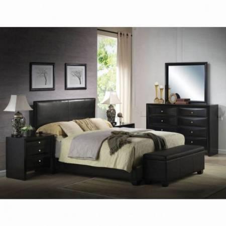 14440F BLACK PU FULL BED