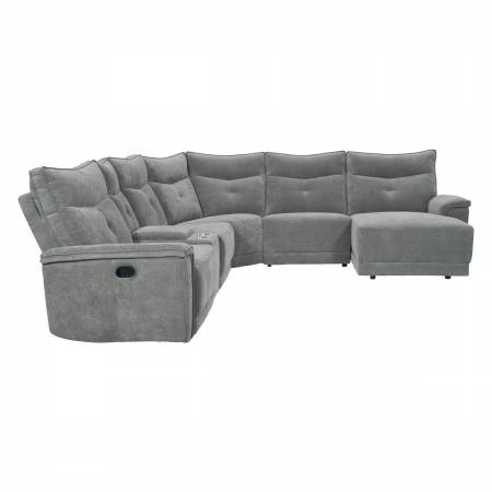 9509DG*6LR5R 6-Piece Modular Reclining Sectional with Right Chaise