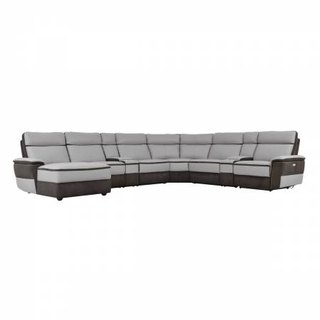 8318*8A 8-Piece Modular Power Reclining Sectional with Left Chaise