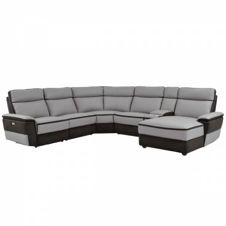 8318*6B 6-Piece Modular Power Reclining Sectional with Right Chaise