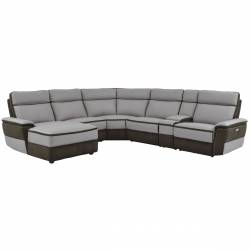8318*6A 6-Piece Modular Power Reclining Sectional with Left Chaise