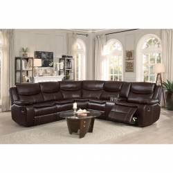 8230BRW*SC 3-Piece Sectional with Right Console
