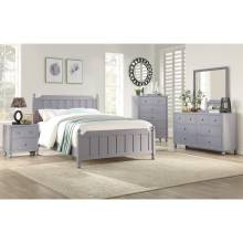 1803GY-1*4 4PC SETS Queen Bed + Night Stand + Dresser + Mirror