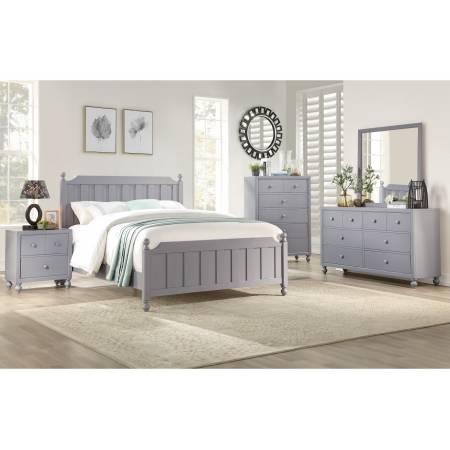 1803GYF-1*4 4PC SETS Full Bed + Night Stand + Dresser + Mirror