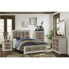 1677K-1CK*4 4PC SETS California King Bed + Night Stand + Dresser + Mirror