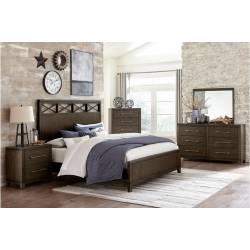 1669K-1CK*4 4PC SETS California King Bed + Night Stand + Dresser + Mirror