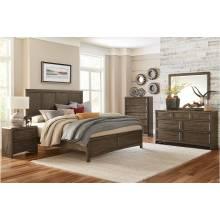 1619K-1CK*4 4PC SETS California King Bed + Night Stand + Dresser + Mirror